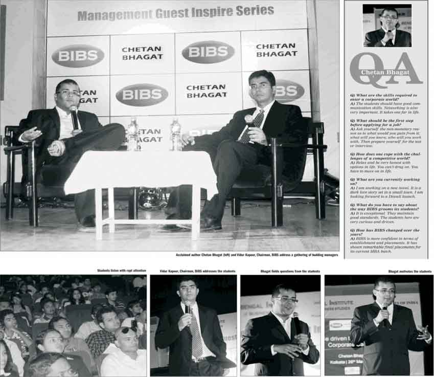 Q&A session with Chetan Bhagat and BIBS Students
