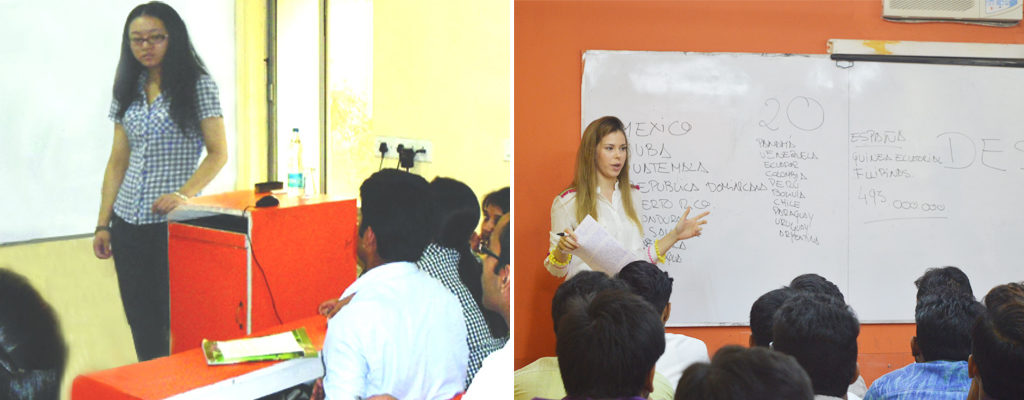 Teachers at BIBS training foreign languages to students